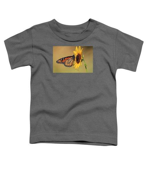 Monarch Butterfly On Sun Flower Toddler T-Shirt