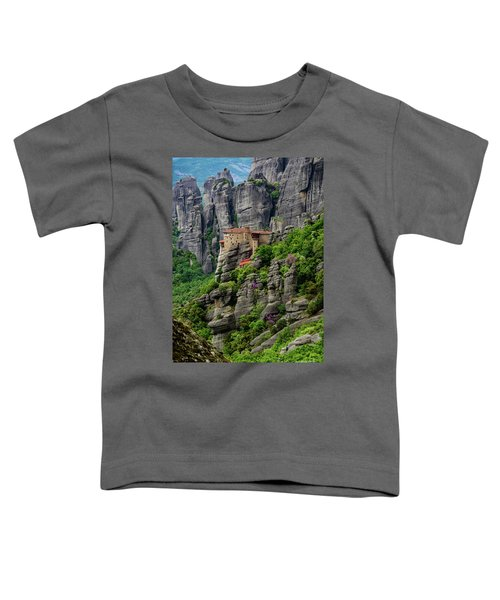Monastery Of Saint Nicholas Of Anapafsas, Meteora, Greece Toddler T-Shirt