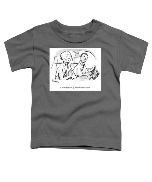Monk Enters A Cab With No Destination. Toddler T-Shirt