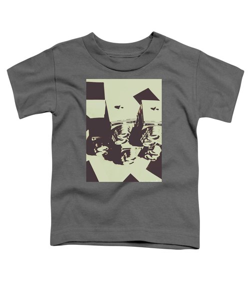 Monochromatic Antique Cameras And Photos Toddler T-Shirt