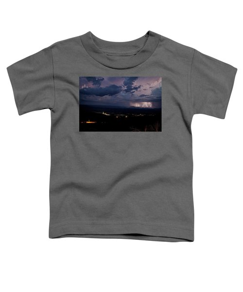 Monsoon Lightning Over Sedona From Jerome Az Toddler T-Shirt