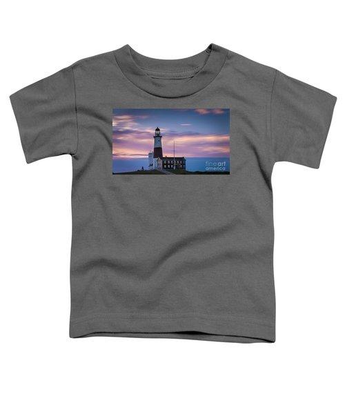 Montauk Lighthousepastel  Sunrise Toddler T-Shirt