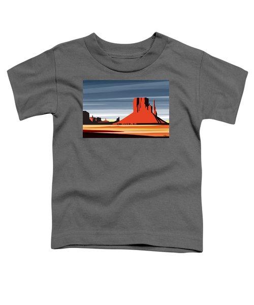 Monument Valley Sunset Digital Realism Toddler T-Shirt