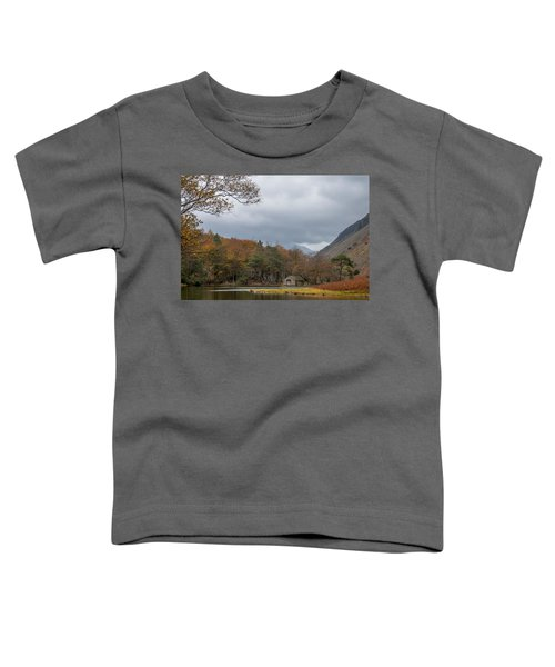 Moody Clouds Over A Boathouse On Wast Water In The Lake District Toddler T-Shirt