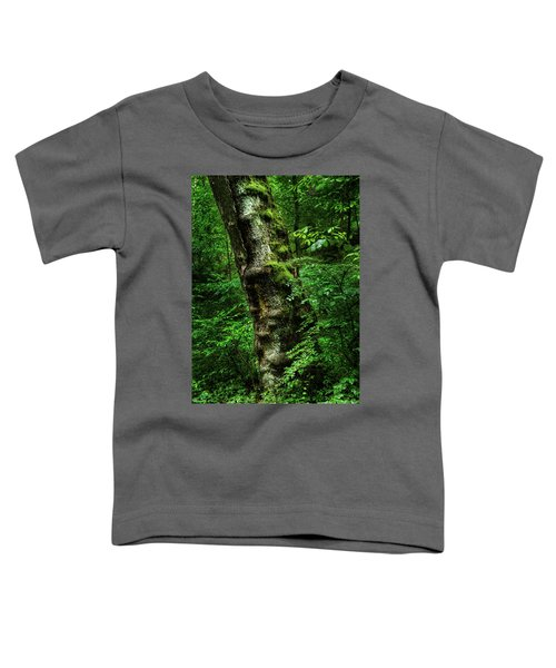 Moody Tree In Forest Toddler T-Shirt
