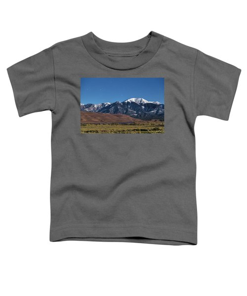 Moon Lit Colorado Great Sand Dunes Starry Night  Toddler T-Shirt by James BO Insogna