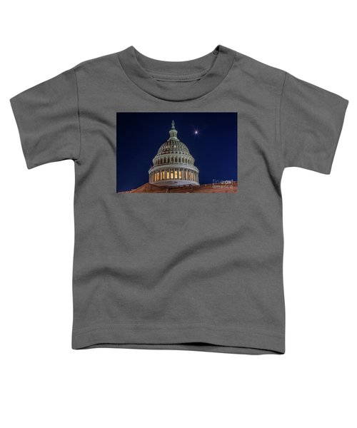 Moon Over The Washington Capitol Building Toddler T-Shirt