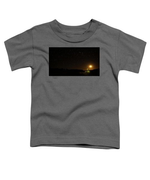 Moon Set Over Palm Valley Toddler T-Shirt