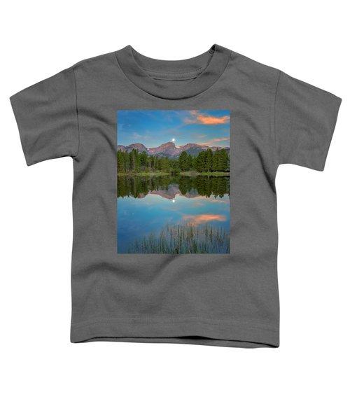 Full Moon Set Over Sprague Lake Toddler T-Shirt