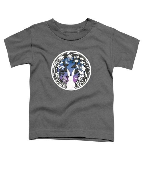 Moonlight Bunny Star Gazer Toddler T-Shirt