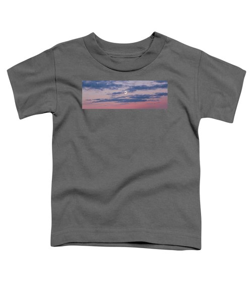 Moonrise In Pink Sky Toddler T-Shirt