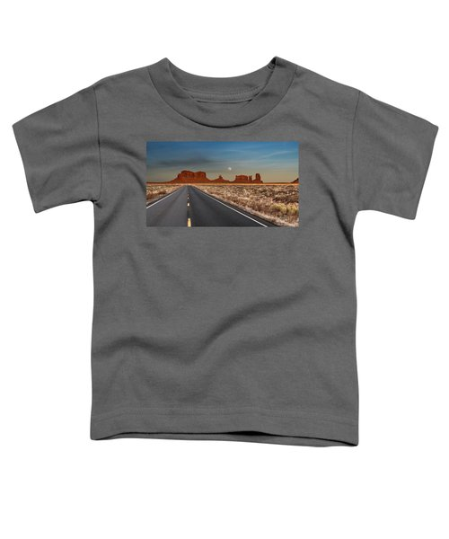 Moonrise Over Monument Valley Toddler T-Shirt