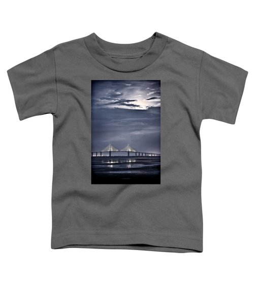 Moonrise Over Sunshine Skyway Bridge Toddler T-Shirt