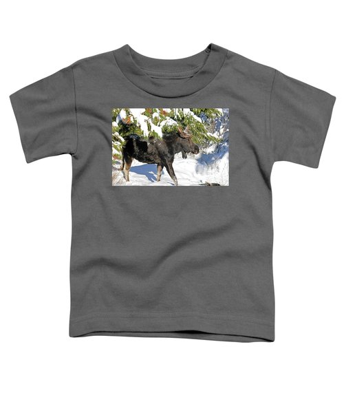 Moose In Snow Toddler T-Shirt