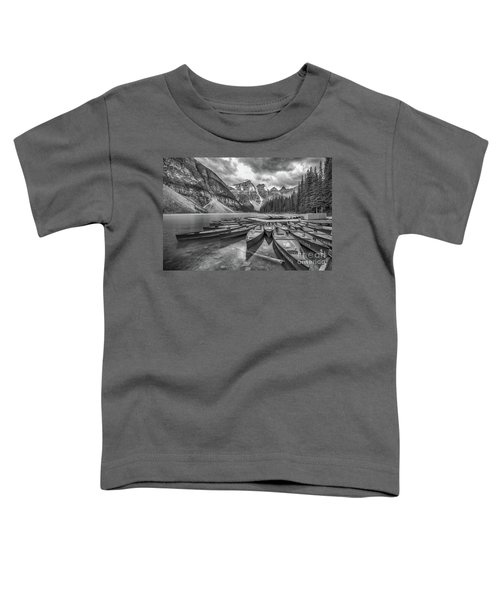 Moraine Lake In Black And White Toddler T-Shirt