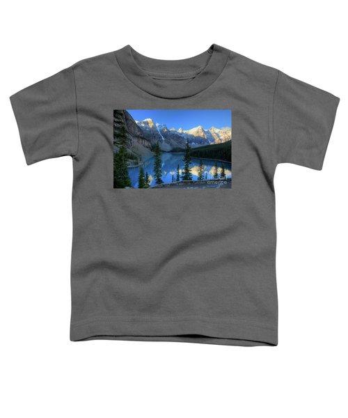 Moraine Lake Sunrise Blue Skies Toddler T-Shirt