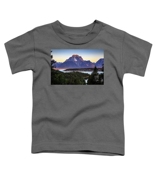 Morning At Mt. Moran Toddler T-Shirt by David Chandler