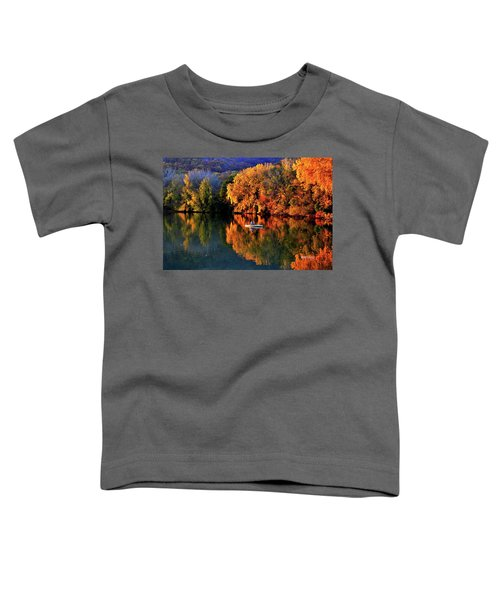 Morning Fishing On Lake Winona Toddler T-Shirt