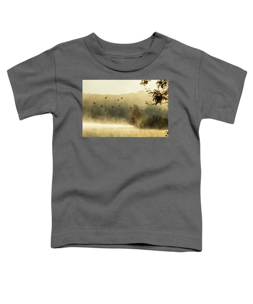 Morning Fog On Haley Pond In Rangeley Maine Toddler T-Shirt