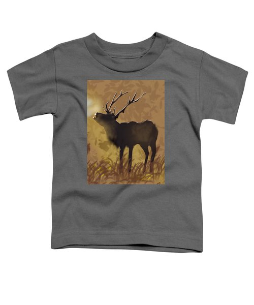Toddler T-Shirt featuring the digital art Morning by Gerry Morgan