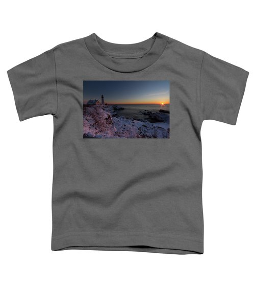 Morning Glow At Portland Headlight Toddler T-Shirt