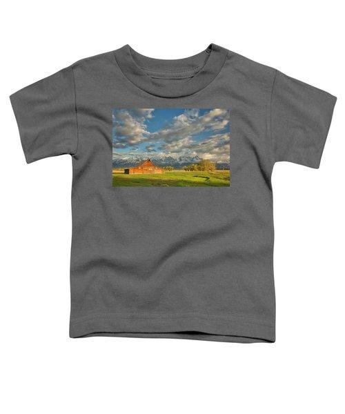 Morning Light On Moulton Barn Toddler T-Shirt