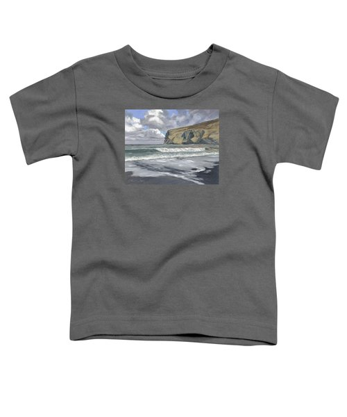 Toddler T-Shirt featuring the painting Morning Light On Pencannow Point by Lawrence Dyer