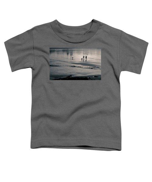 Morning Walk, Gooch's Beach, Kennebunk, Maine Toddler T-Shirt