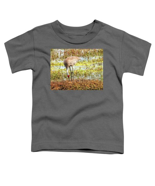 Mother Rearranging Her Eggs In The Nest Toddler T-Shirt