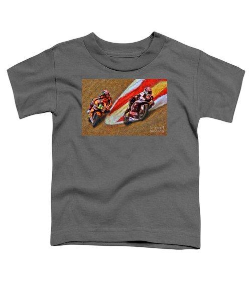 Moto2 Johann Zarco Leads Sam Lowes Toddler T-Shirt