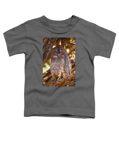 Mottled Wood Owl, India Toddler T-Shirt