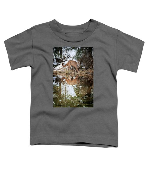 Mountain Lion Reflection Toddler T-Shirt
