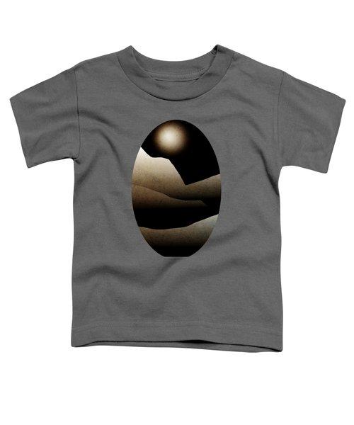 Mountain Moonlight Landscape Art Toddler T-Shirt