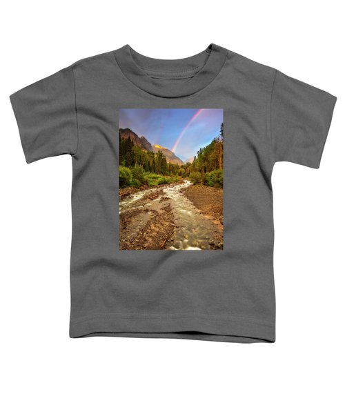 Mountain Rainbow Toddler T-Shirt