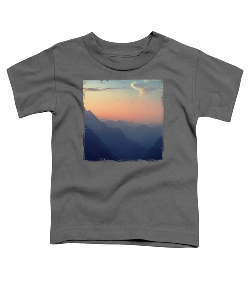 Mountain Sunrise - Pastel Alps Toddler T-Shirt