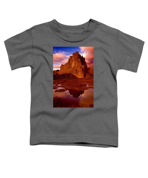 Mountain Sunrise Reflection Toddler T-Shirt