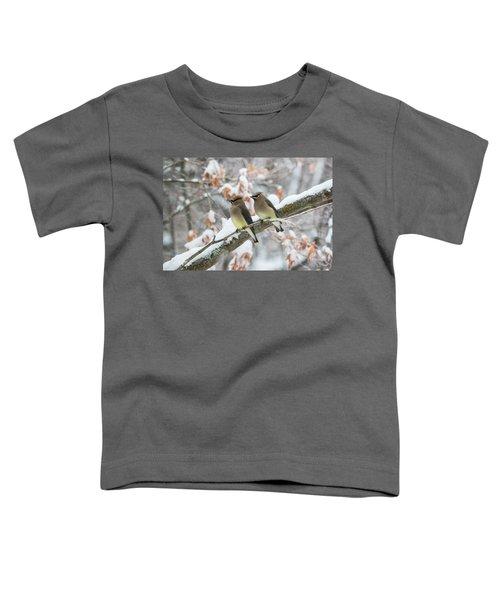 Mr. And Mrs. Cedar Wax Wing Toddler T-Shirt