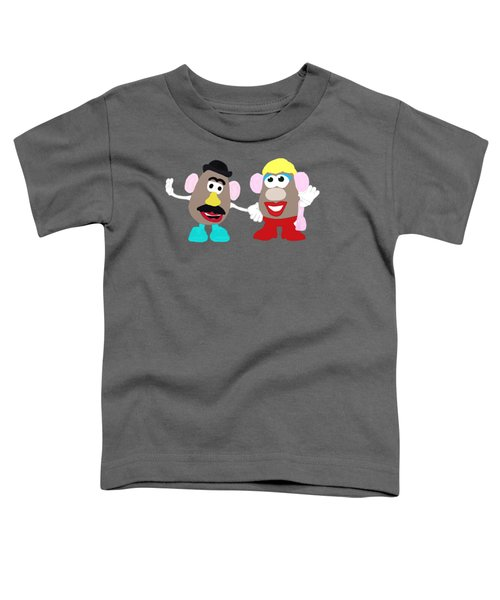 Mr. And Mrs. Potato Head Toddler T-Shirt by Priscilla Wolfe