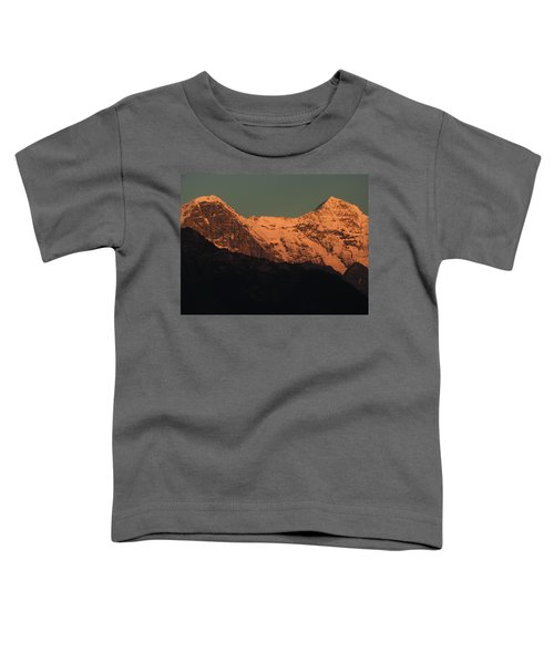 Mt. Eiger And Mt. Moench At Sunset Toddler T-Shirt
