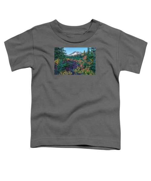 Mt Rainier With Autumn Colors Toddler T-Shirt