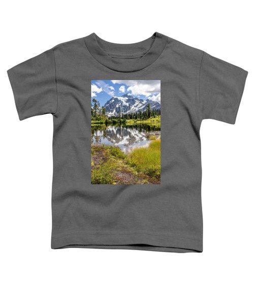 Mt Shuksan On Picture Lake 2 Toddler T-Shirt