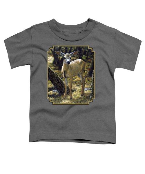 Mule Deer Fawn - Monarch Moment Toddler T-Shirt