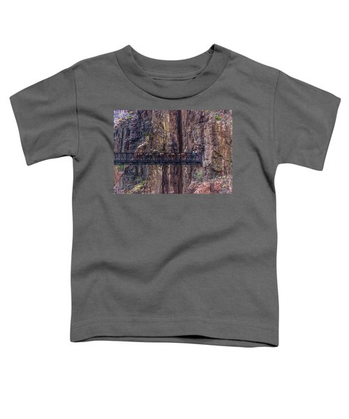 Mule Train On Black Bridge, Grand Canyon Toddler T-Shirt