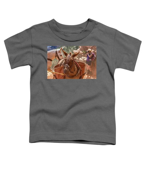 Mule Train On The South Kaibab Trail Toddler T-Shirt