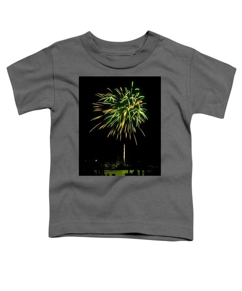 Toddler T-Shirt featuring the photograph Murrells Inlet Fireworks by Bill Barber