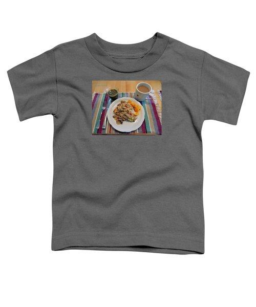 Mushroom Gravy Over Breakfast Quiche  Toddler T-Shirt