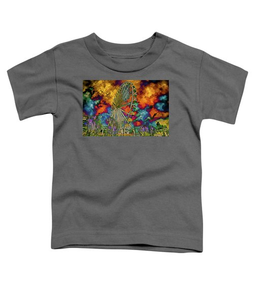 Myrtle Beach Skywheel Abstract Toddler T-Shirt by Bill Barber