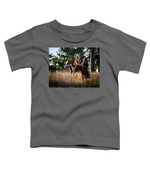 Native Americans On Horses In The Morning Light Toddler T-Shirt