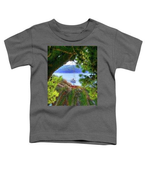 Nature Framed Boat Toddler T-Shirt