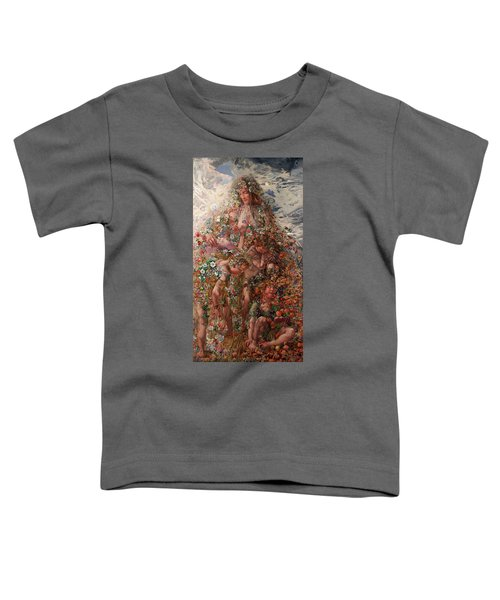 Toddler T-Shirt featuring the painting Nature Or Abundance by Leon Frederic